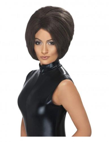 Parrucca cotonata nera donna