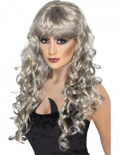 Parrucca lunga grigia donna