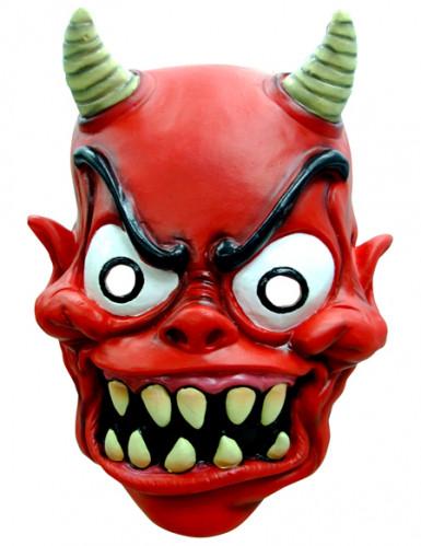 Maschera demone adulti Halloween