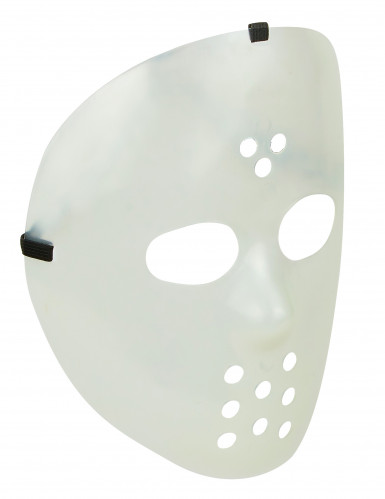 Maschera da hockey fosforescente adulti.