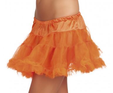 Sottogonna arancione in tulle donna
