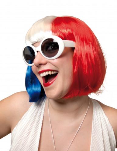 Parrucca tricolore donna