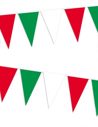 Ghirlanda da tifosi con gagliardetti Italia