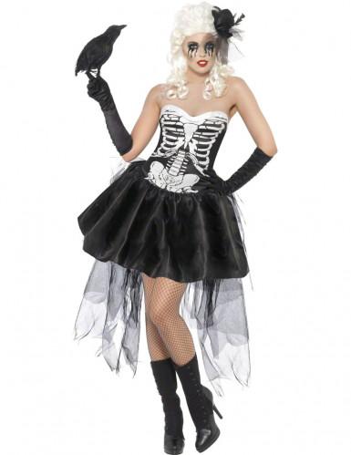 Costume scheletro macabro adulto per donna