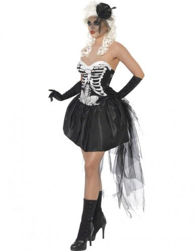 Costume scheletro macabro adulto per donna-1
