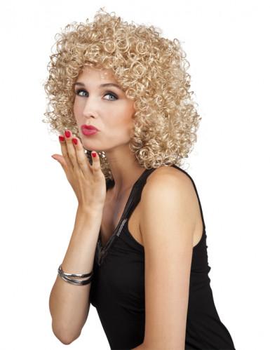 Parrucca riccioluta bionda donna