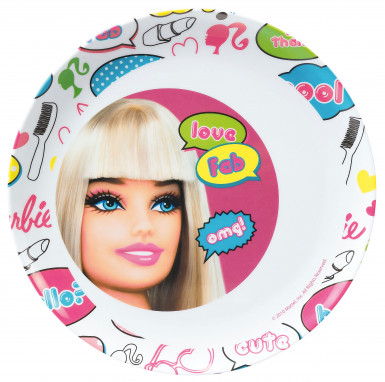 Piatto piano in melamina Barbie™