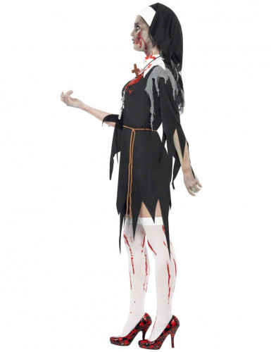 Costume suora zombie Halloween donna-2