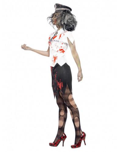 Costume poliziotta zombie Halloween donna-1