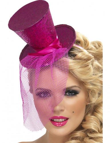 Mini cappello rosa Adulto