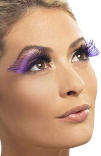 Ciglia finte lunghe viola adulto per donna