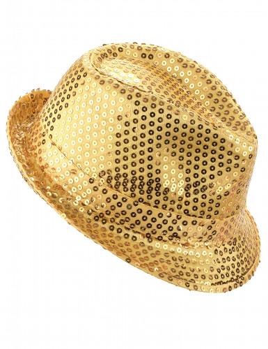 Cappello paillettato dorato adulto