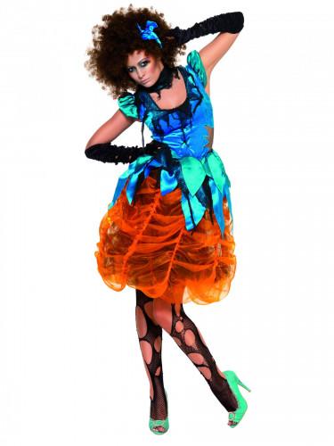 Costume da strega multicolore Halloween donna