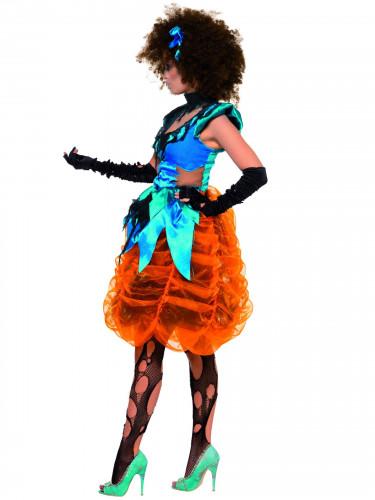 Costume da strega multicolore Halloween donna-2