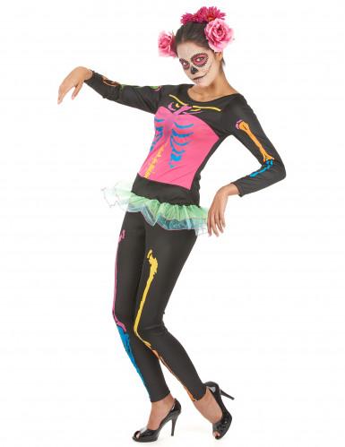 Costume scheletro adulto donna Halloween-2