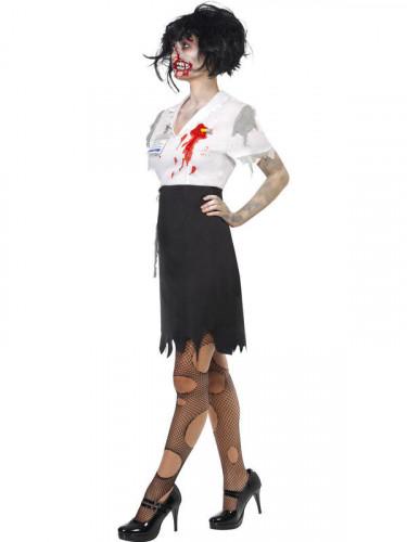 Costume segretaria zombie donna Halloween-1