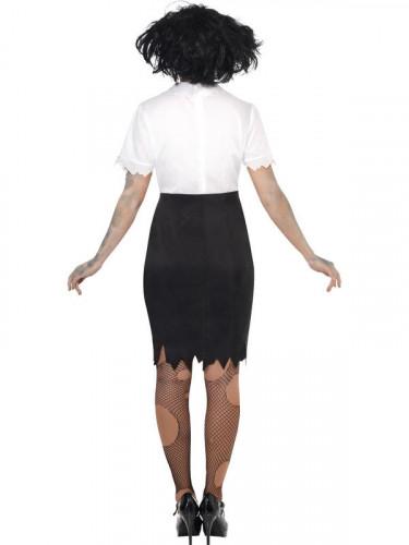 Costume segretaria zombie donna Halloween-2