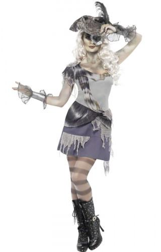 Costume da pirata fantasma donna Halloween