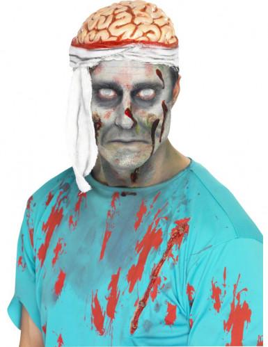 Cappello cervello e fasciatura Halloween adulto
