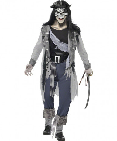 Costume fantasma pirata uomo Halloween