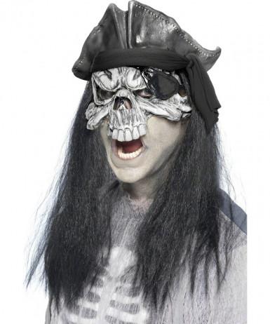 Maschera fantasma pirata Halloween adulti
