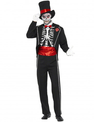 Costume gentleman scheletro adulti Halloween