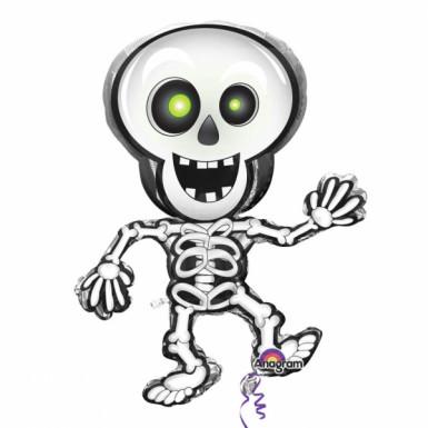 Palloncino alluminio scheletro Halloween
