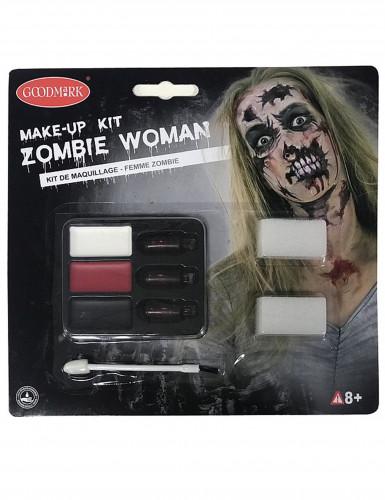 Kit trucco zombie adulto Halloween per donna-1