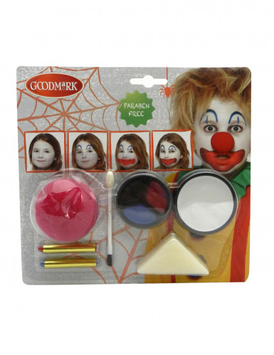 Kit trucco Clown adulto Halloween