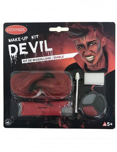 Kit trucco demone adulto Halloween-4