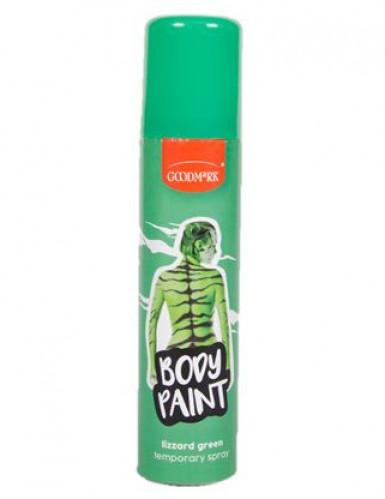 Spray per capelli e corpo di colore verde