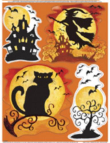Halloween adesivi per finestra 4 confezioni impronte - Adesivi natalizi per finestre ...