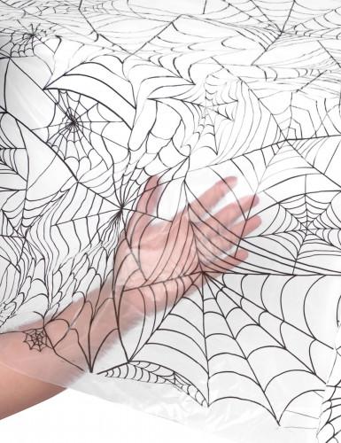 Tovaglia di plastica con ragnatele Halloween-1