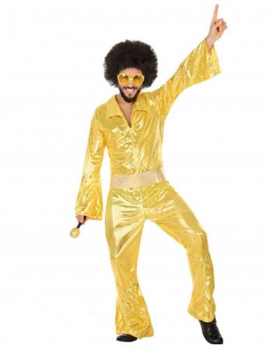 Costume disco adulto dorato uomo