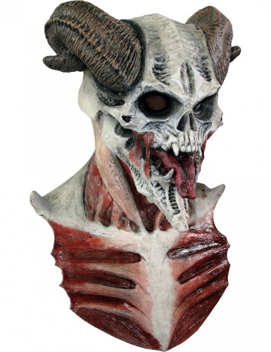 Maschera scheletro diabolico adulto Halloween