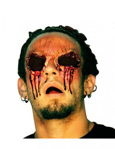 Finta ferita senza occhi adulto Halloween