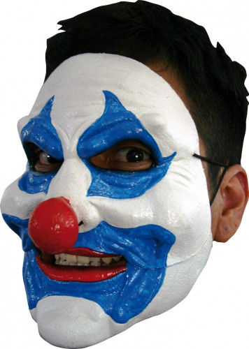 Maschera clown blu adulti Halloween