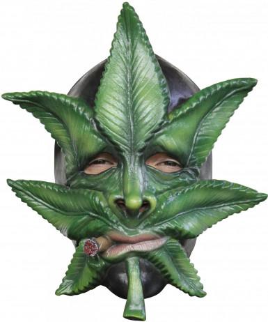 Maschera foglia di cannabis adulti