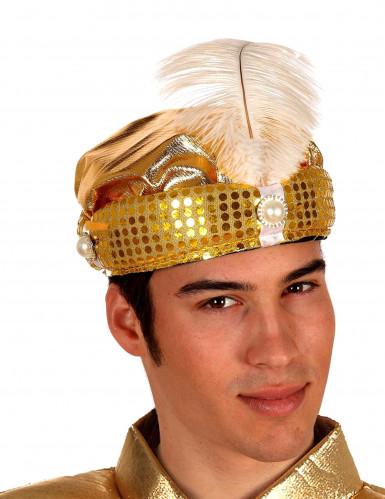 Cappello arabo adulti dorato