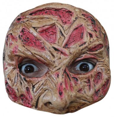 Mezza maschera viso bruciato adulto Halloween