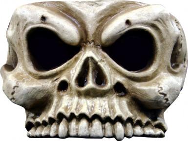 Mezza maschera scheletro adulto Halloween