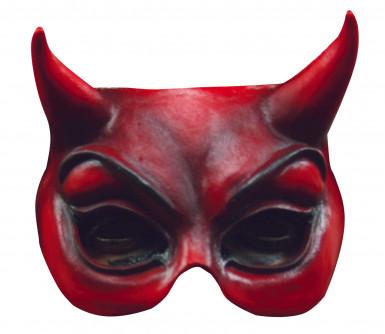 Mezza maschera diavolo adulto