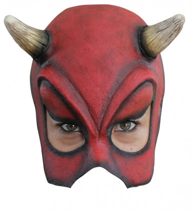 Mezza maschera diavolo sexy adulto Halloween