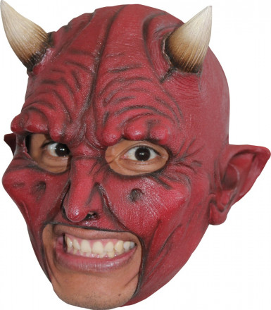 Maschera demone corna adulto Halloween