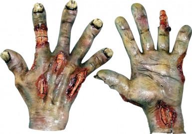 Guanti mani bruciate adulto Halloween
