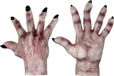 Guanti mostro pelle chiara adulto Halloween