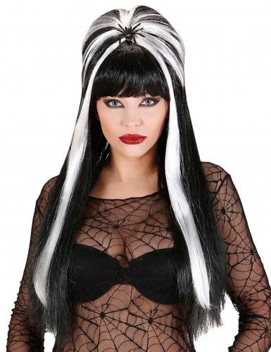 Parrucca bianca e nera adulto Halloween