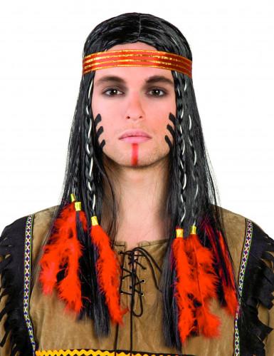 Parrucca indiano adulto per uomo