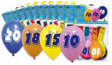 8 palloncini celebrazione 20 anni