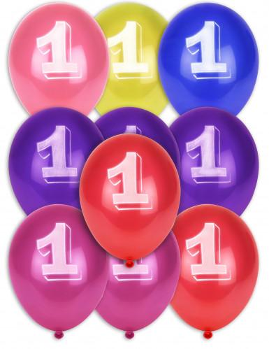 8 palloncini numero 1